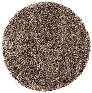 Safavieh Polar Shag 3' x 3' Round Accent Rug, Brown, large