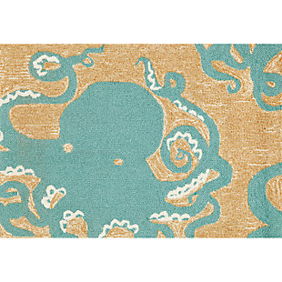 Home Accents Deckside 2' x 3' Sea Mollusk Indoor/Outdoor Doormat, , large