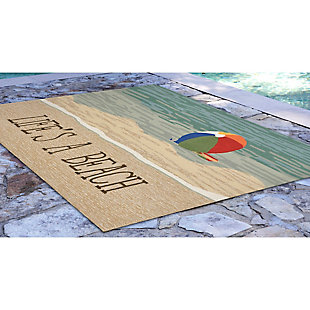 Home Accents Deckside 2' x 3' Summer Rays Indoor/Outdoor Doormat, , large
