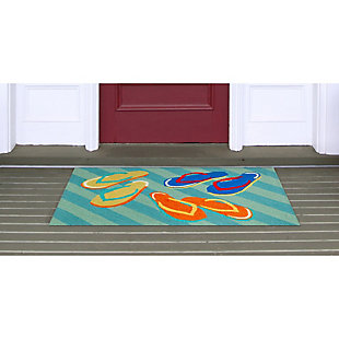 Home Accents Deckside 2' x 3' Summer Shoes Indoor/Outdoor Doormat, , rollover