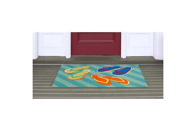 Home Accents Deckside 2' x 3' Summer Shoes Indoor/Outdoor Doormat, , large