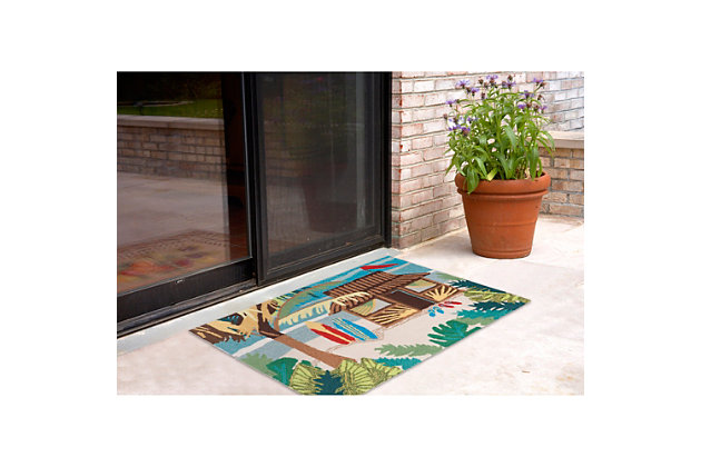 Home Accents Deckside 2' x 3' Tropics Indoor/Outdoor Doormat, , large