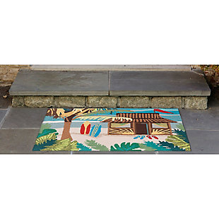 Home Accents Deckside 2' x 3' Tropics Indoor/Outdoor Doormat, , rollover