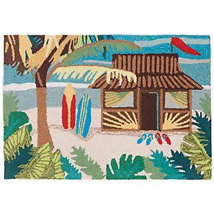 Home Accents Deckside 2' x 3' Tropics Indoor/Outdoor Doormat, , rollover