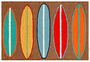 Home Accents Deckside 2' x 3' Wave Rider Indoor/Outdoor Doormat, , large