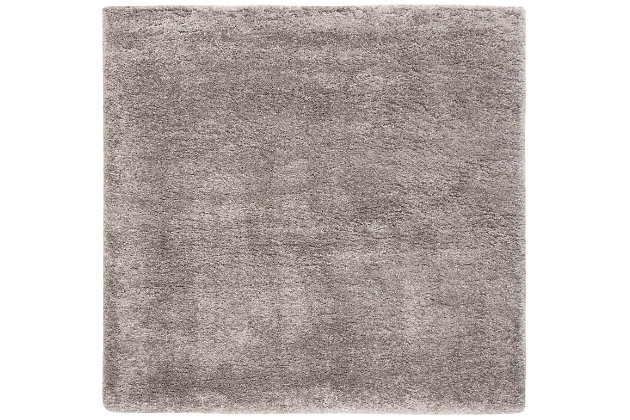 "Safavieh Royal Shag 6'7"" x 6'7"" Round Area Rug, Silver, large"