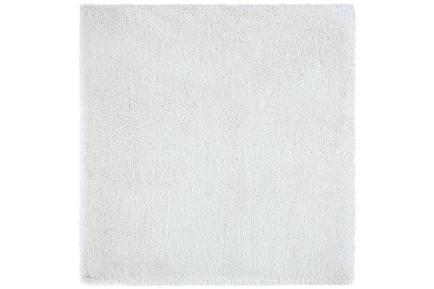 Safavieh South Beach Shag 6' x 6' Square Area Rug, White, large