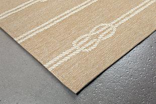 Home Accents Fortina 2' x 3' Sailing Knot Indoor/Outdoor Doormat, Beige, rollover