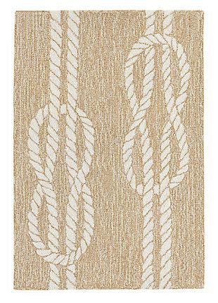 Home Accents Fortina 2' x 3' Sailing Knot Indoor/Outdoor Doormat, Beige, large