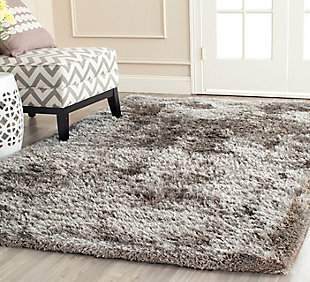 Safavieh South Beach Shag 5' x 8' Area Rug, Silver, rollover