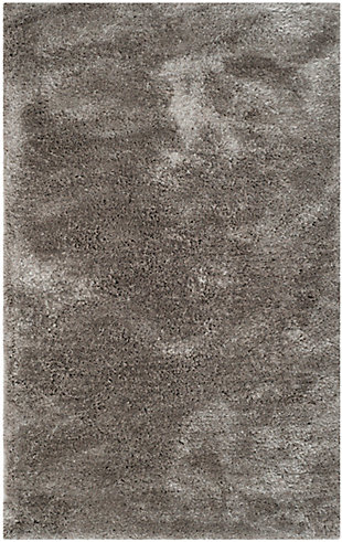Safavieh South Beach Shag 5' x 8' Area Rug, Silver, large