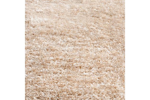 "Safavieh South Beach Shag 2'3"" x 8' Runner, Tan, large"