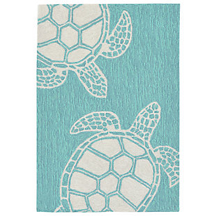 Home Accents Fortina 2' x 3' Terrapin Indoor/Outdoor Doormat, Blue, large