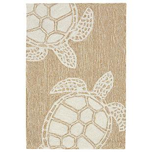 Home Accents Fortina 2' x 3' Terrapin Indoor/Outdoor Doormat, Beige, large
