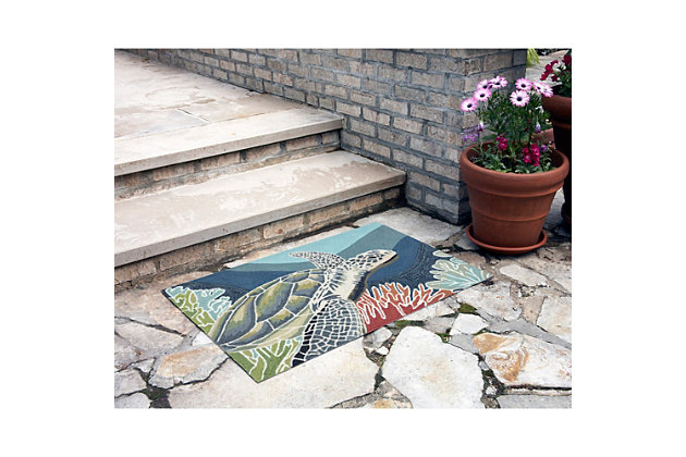 Home Accents Highlands 2' x 3' Slow Drift Indoor/Outdoor Doormat, , large
