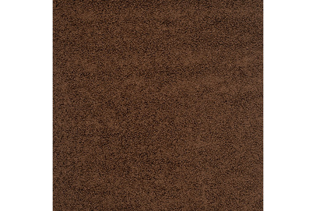 "Safavieh Athens Shag 5'1"" x 7'6"" Area Rug, Brown, large"