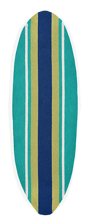"""Home Accents Deckside 1'11"""" x 6' Bold Stripe Indoor/Outdoor Rug, , large"""