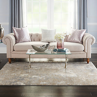 Nourison Home Decor Joli 5' X 7' Area Rug, Ivory Beige, rollover