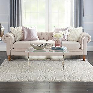 Nourison  Home Decor Joli 5' x 7' Area Rug, Beige White, rollover