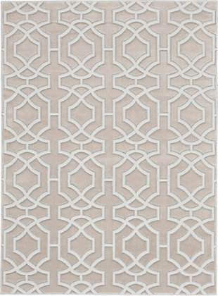 Nourison  Home Decor Joli 5' x 7' Area Rug, Beige White, large