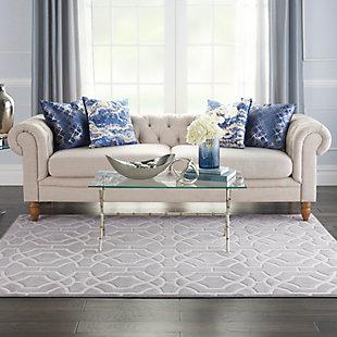 Nourison  Home Decor Joli 5' x 7' Area Rug, Gray/White, rollover