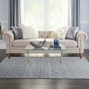 Nourison  Home Decor Joli 5' x 7' Area Rug, Blue/Gray, rollover