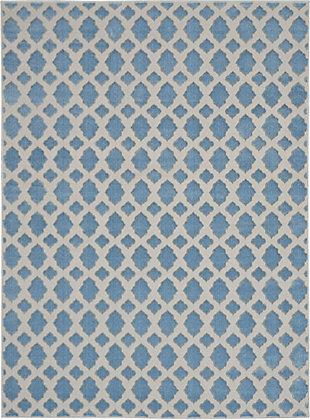 Nourison  Home Decor Joli 5' x 7' Area Rug, Blue/Gray, large
