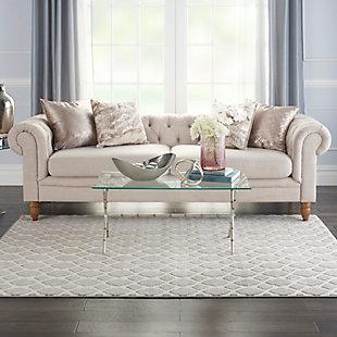 Nourison Home Decor Joli 5' X 7' Area Rug, Gray/Ivory, rollover
