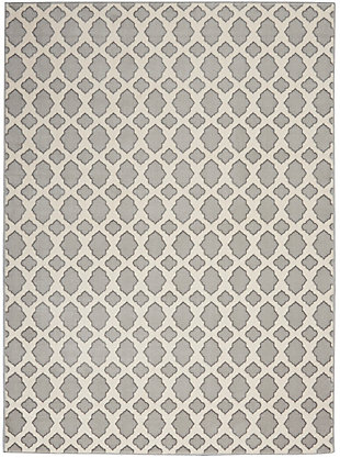 Nourison Home Decor Joli 5' X 7' Area Rug, Gray/Ivory, large