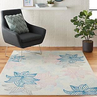 Nourison Jubilant White Multicolor 5'x7' Beach Area Rug, Ivory/Multi, rollover