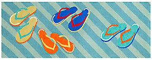 Home Accents Deckside Summer Shoes Indoor/Outdoor Rug 2.25' x 6', , large