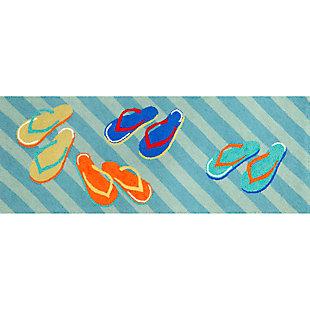 Home Accents Deckside Summer Shoes Indoor/Outdoor Rug 2.25' x 6', , rollover