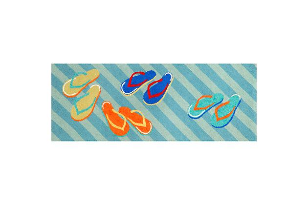 Home Accents Deckside Summer Shoes Indoor/Outdoor Rug 2.2...