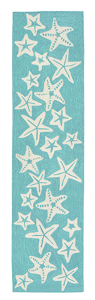 Home Accents Fortina 2' x 8' Basket Star Indoor/Outdoor Runner, , large
