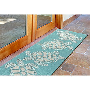 Home Accents Fortina 2' x 8' Terrapin Indoor/Outdoor Runner, Blue, rollover