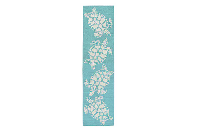 Home Accents Fortina 2' x 8' Terrapin Indoor/Outdoor Runner, Blue, large