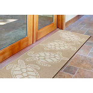 Home Accents Fortina 2' x 8' Terrapin Indoor/Outdoor Runner, Beige, large