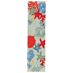 Home Accents Highlands 2' x 8' Reefscape Indoor/Outdoor Runner, , large