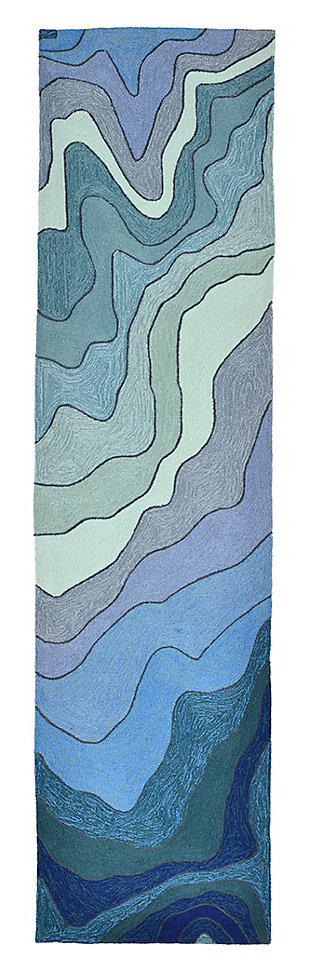 Home Accents Highlands 2' x 8' Sea Scape Indoor/Outdoor Runner, , large