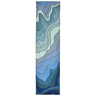 Home Accents Highlands 2' x 8' Sea Scape Indoor/Outdoor Runner, , rollover