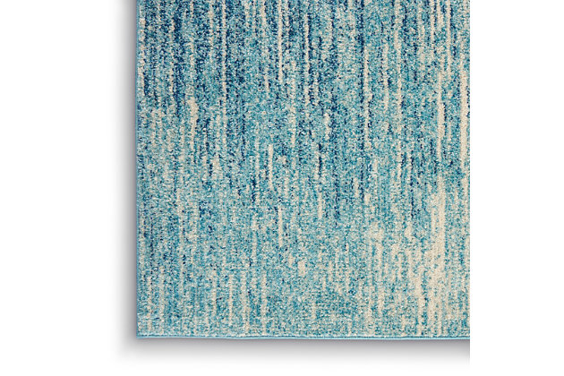 Nourison Passion 5' x 7' Navy Light Blue Area Rug, , large
