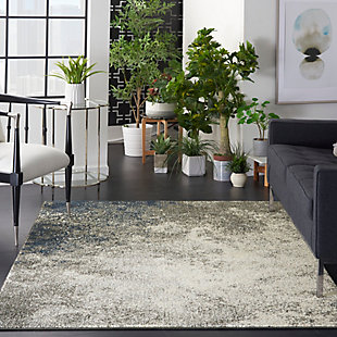 Nourison Passion 5' x 7' Charcoal and Ivory Area Rug, Charcoal/Ivory, rollover