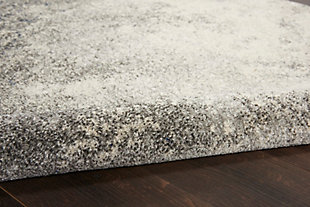 Nourison Passion 5' X 7' Charcoal And Ivory Area Rug, Charcoal/Ivory, large