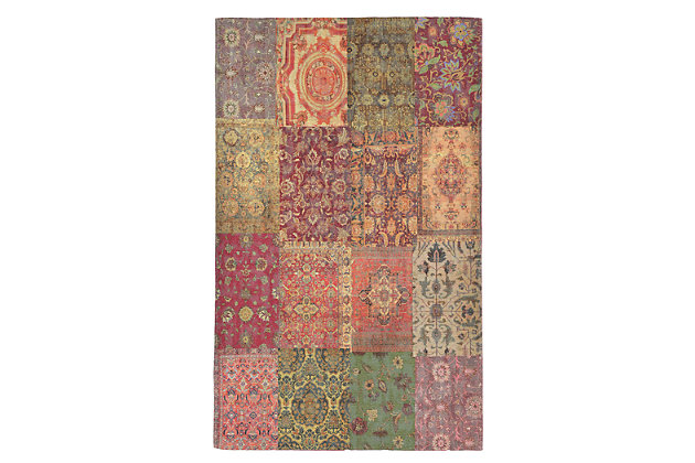 """Home Accents Sabrina Zagros Rug 4'8"""" x 7'6"""", Red, large"""