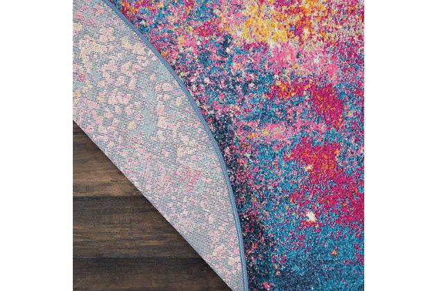 Nourison Passion Multicolor 4' Round Colorful Area Rug, Sunburst, large