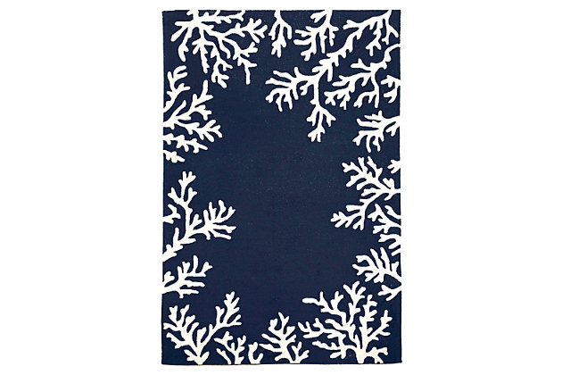 "Home Accents Fortina Beach Border Indoor/Outdoor Rug 5' x 7'6"", , large"
