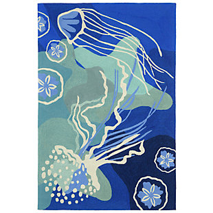 "Home Accents Fortina Ocean Ballerina Indoor/Outdoor Rug 5' x 7'6"", , rollover"