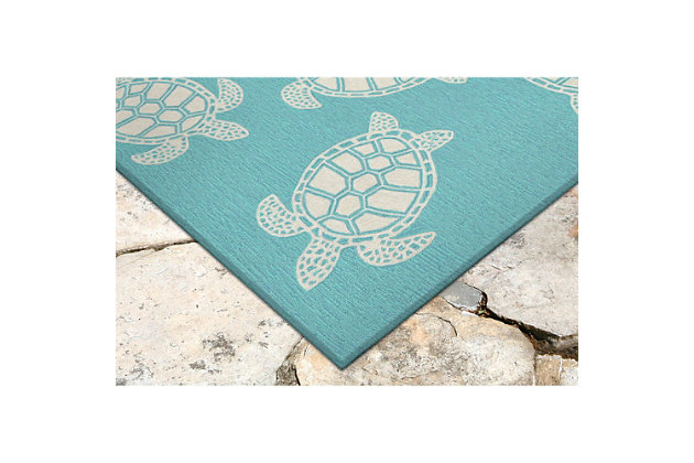 "Home Accents Fortina Terrapin Indoor/Outdoor Rug 5' x 7'6"", , large"