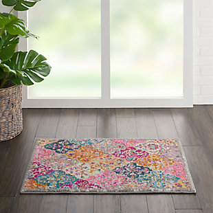 "Nourison Passion Bohemian Multi Colored  1'10""X2'10"" Area Rug, Multi, rollover"