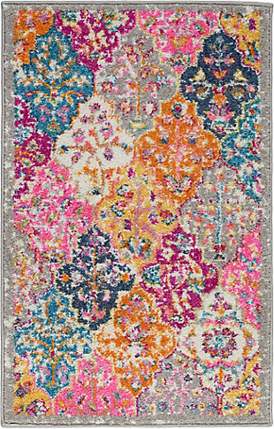 "Nourison Passion Bohemian Multi Colored  1'10""X2'10"" Area Rug, Multi, large"